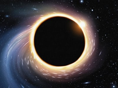 What goes into a black hole never comes out. Or does it?