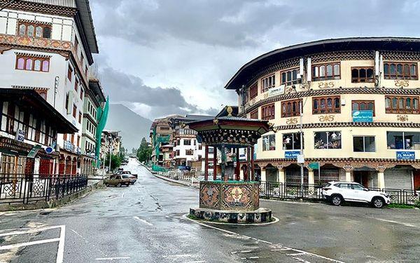 View of Main Thimphu City Center during lockdown thumbnail