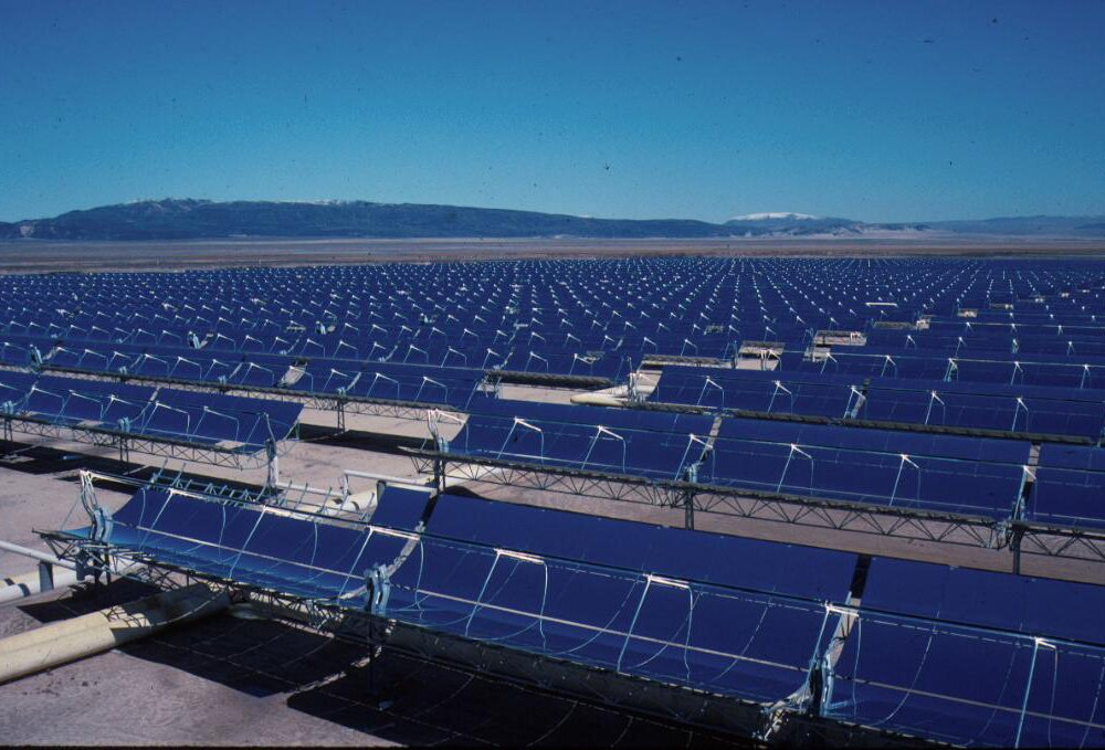 Part of the 354 MW SEGS solar complex in northern San Bernardino County, California