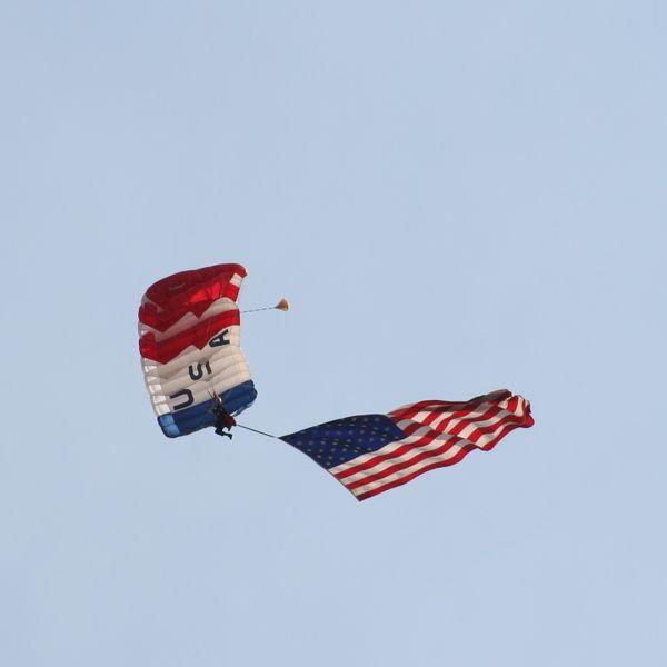 Precision sky divers at Blue Angels Air Show thumbnail