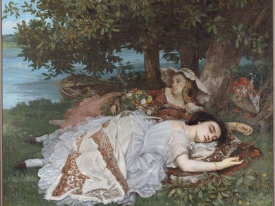 Gustave Courbet's Young Ladies on the Banks of the Seine is one of some 100,000 artworks now freely available online.