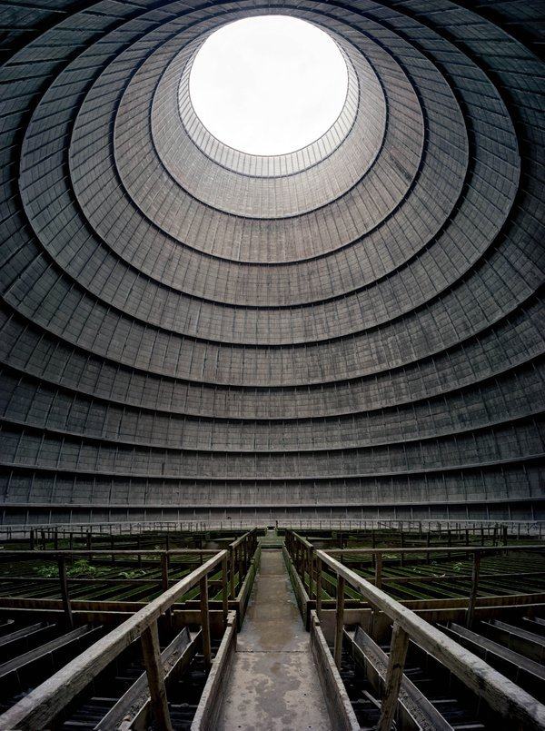 Decommissioned cooling tower. thumbnail