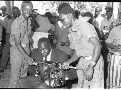 President Amin at Buvuma Island, October 1971