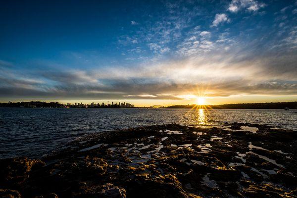 Sunset on the sea thumbnail