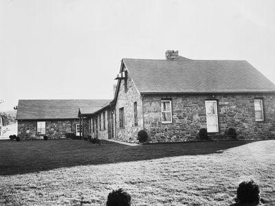 The upstate New York home of Joseph Barbara where leaders of Mafia crime families met on November 14, 1957.