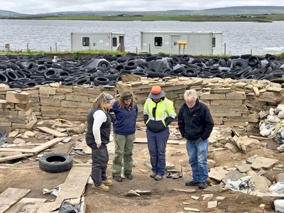 Researchers successfully recovered one of the two prehistoric timbers.