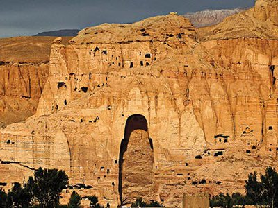 A cliff-face cavity is all that remains of one of two sixth-century Buddha sculptures, sublime expressions of Bamiyan's ancient kingdom.