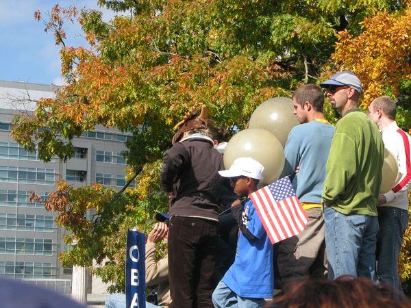 Waiting for Obama in Denver Civic Center Park thumbnail