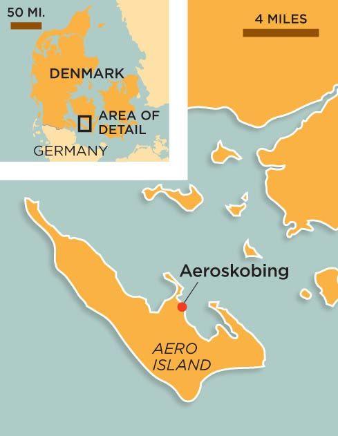 Aero Denmark map