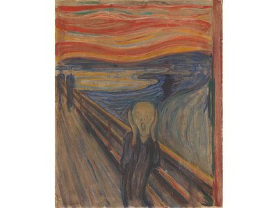 The Scream (1893) is Edvard Munch's most renowned work.