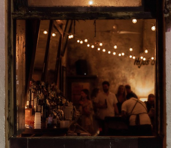 Bar window in Old San Juan, Puerto Rico thumbnail