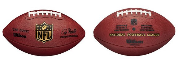 """""""The Duke"""" is the official football of the NFL"""