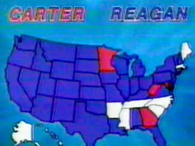 In 1980, CBS News used this color scheme for their presidential election coverage