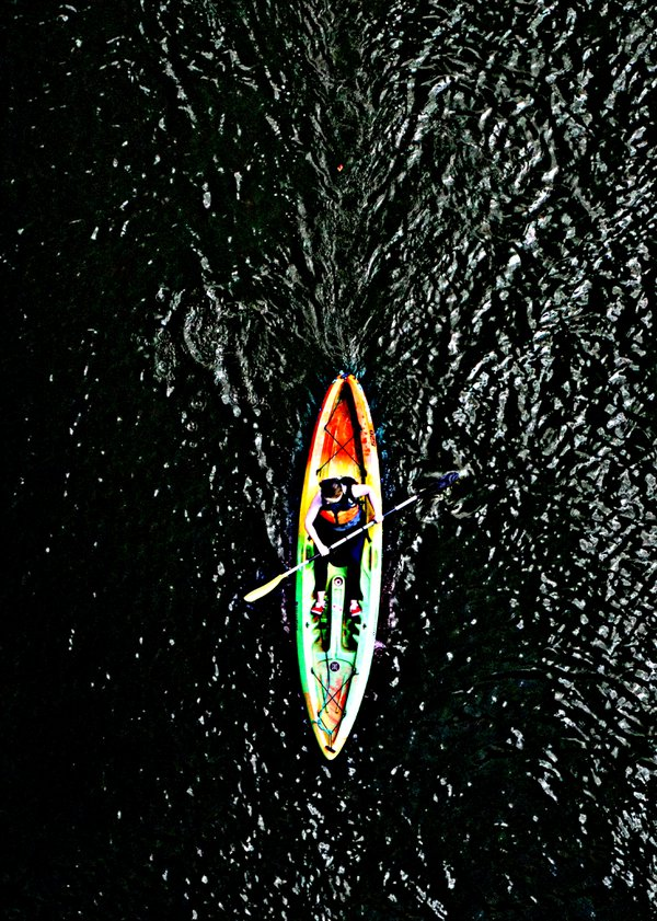Kayak on the river. thumbnail