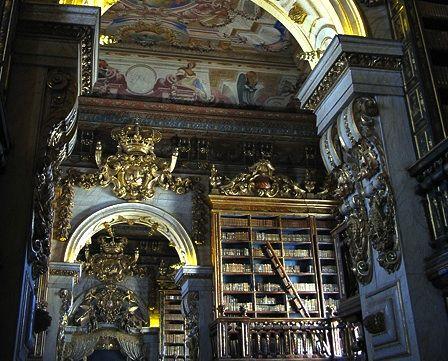 The University of Coimbra's grand old Biblioteca Joanina houses both books and bats.