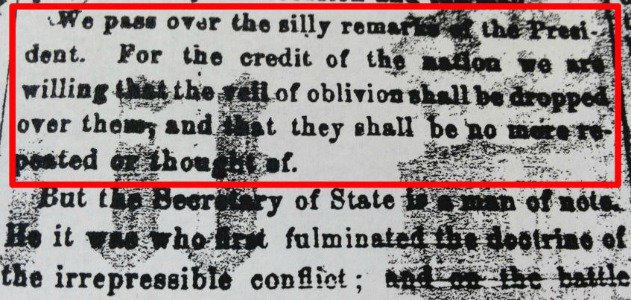 """An editorial that critiqued Lincoln's Gettysburg Address as """"silly remarks."""""""