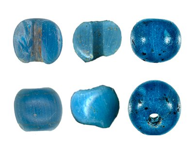 Crafted in Venice, these blue beads traveled all the way to northern Alaska in the mid-15th century.
