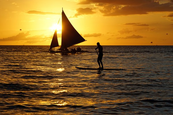 sunset at Boracay island in the Philippines thumbnail