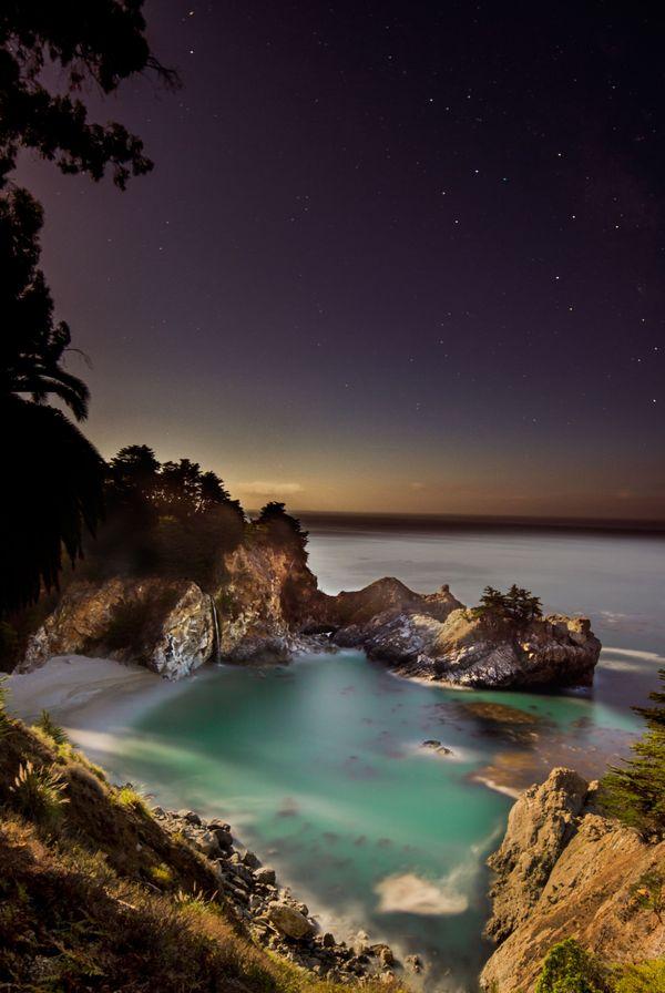 Moonlight Over McWay Falls thumbnail