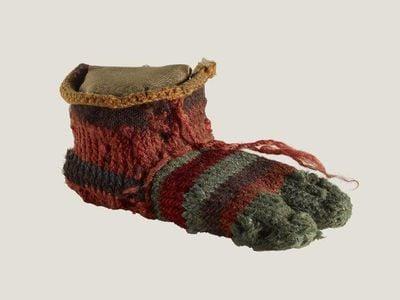 Child's left-foot sock
