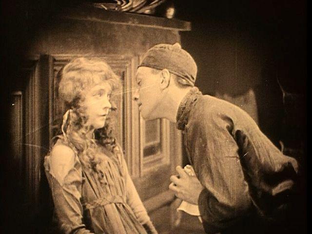 Scene from Broken Blossoms starring Lillian Gish and Richard Barthelmess