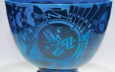 Designed by Viktor Schreckengost (American, 1906-2008); produced by Cowan Pottery Studio (Rocky River, Ohio, active 1912-1931). Engobed and glazed ceramic, with sgraffito design.