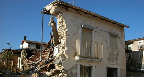 The April 6, 2009 earthquake in Italy destroyed many buildings, new and old.