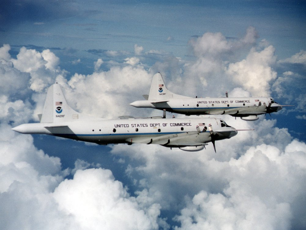 Two NOAA WP-3D Orions