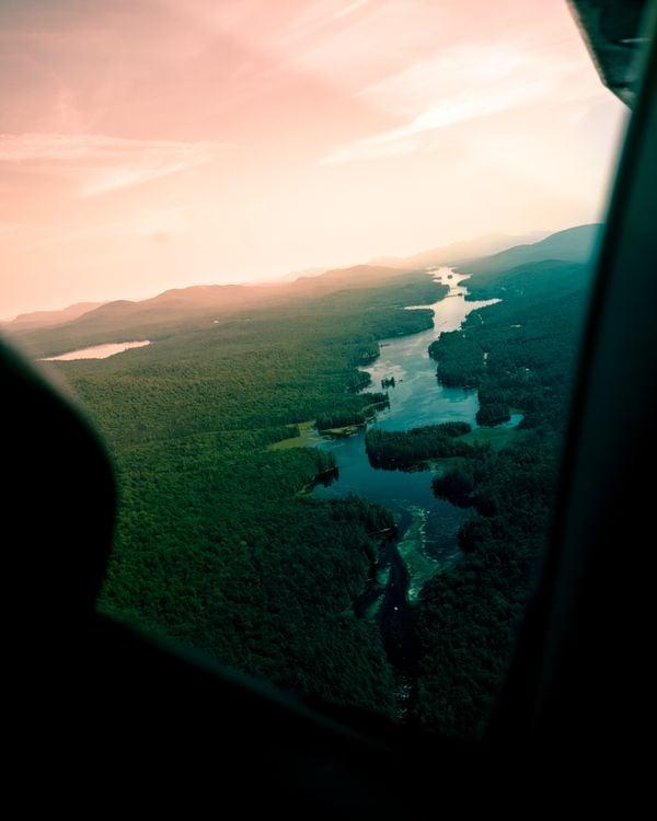 Flying over Long Lake NY thumbnail
