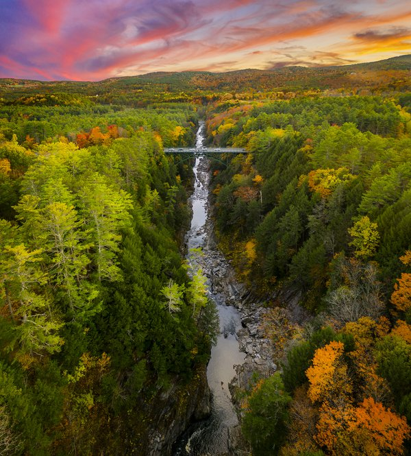 Quechee Gorge at Twilight thumbnail