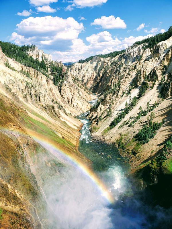 Rainbow at Grand Canyon Yellowstone thumbnail