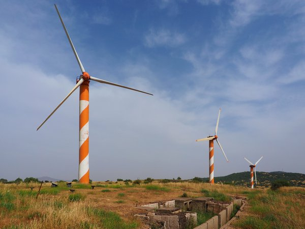 Turbines and an old military bunker thumbnail