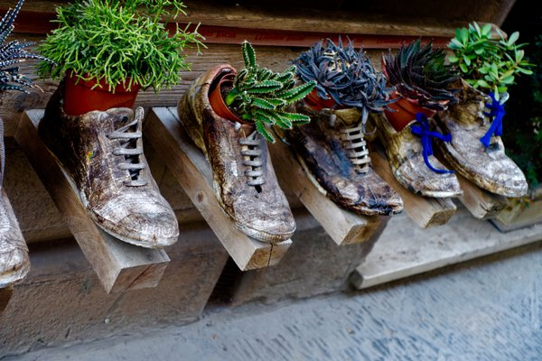 Recycled shoe planters from Soho Farmhouse thumbnail