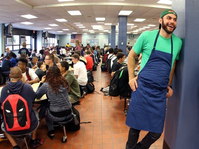 Giusti founded Brigaid to bring professional chefs into public school cafeterias to create made-from-scratch menus.