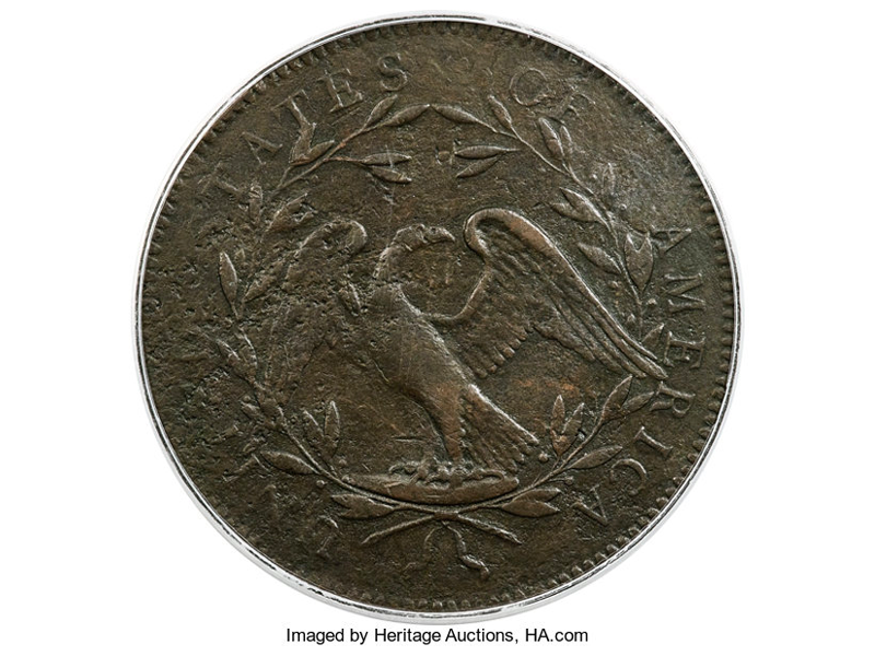 One of the First Dollar Coins Struck at the U.S. Mint Sells for $840,000