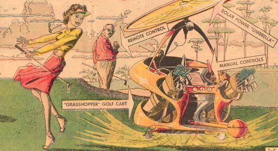 A Futuristic Golf Game in the Sky