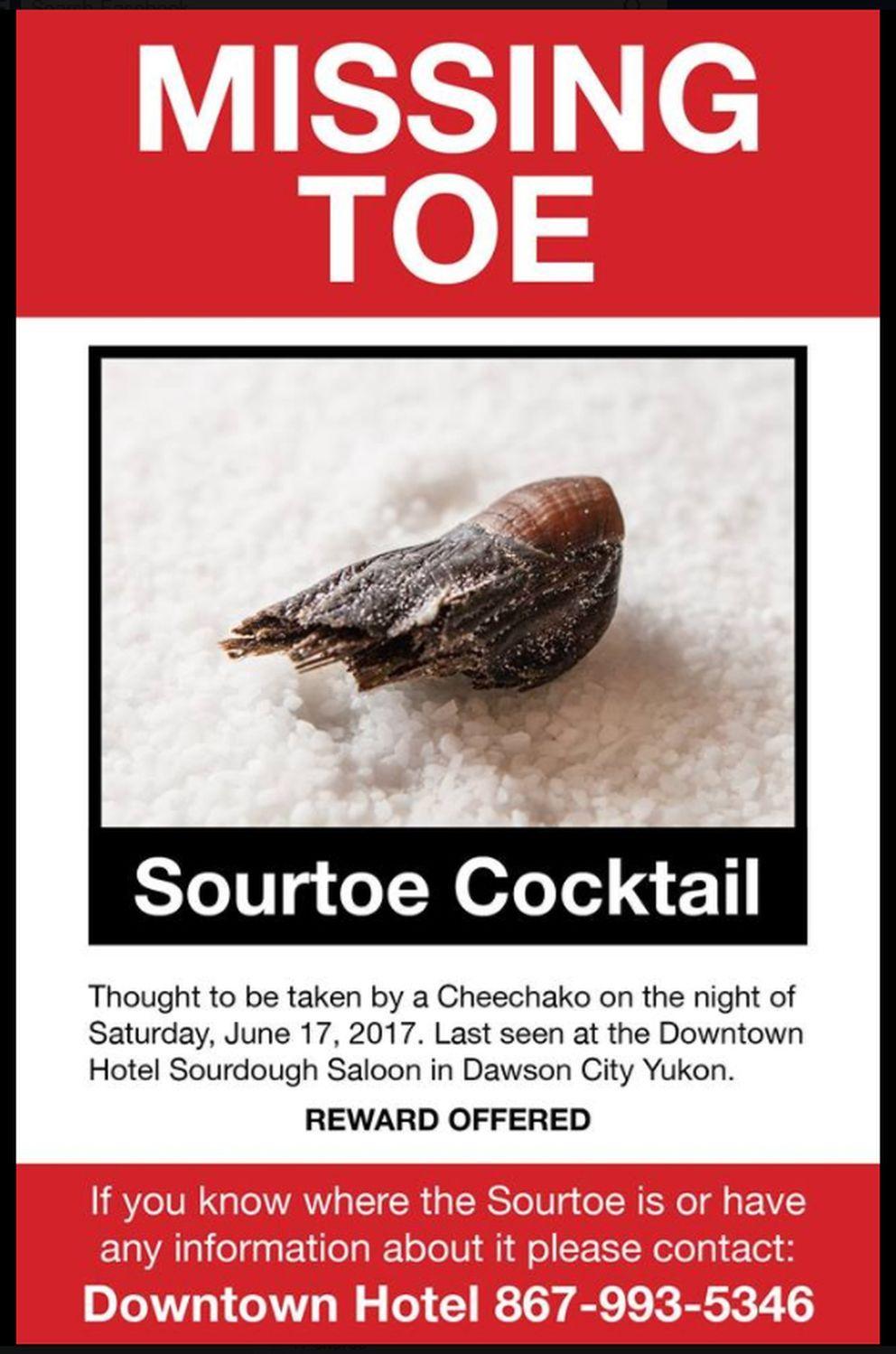 Famous Shriveled Toe Returned to Yukon Bar