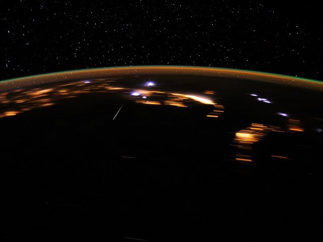 A meteor from the Lyrids