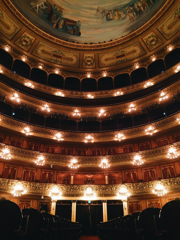 Inside the auditorium of Teatro Colón in Buenos Aires, Argentina thumbnail