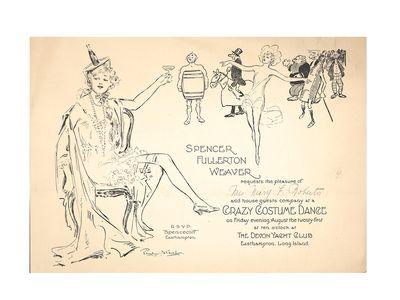 S. Fullerton (Spencer Fullerton) Weaver invitation to Mary Fanton Roberts, 19--?. Mary Fanton Roberts papers, 1880-1956. Archives of American Art, Smithsonian Institution.