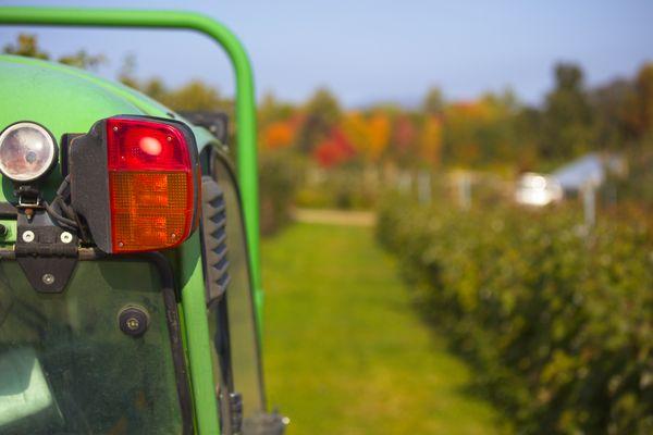 Tractor on a farm thumbnail