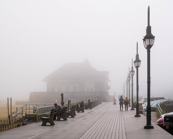 Foggy Morning on the Boardwalk thumbnail