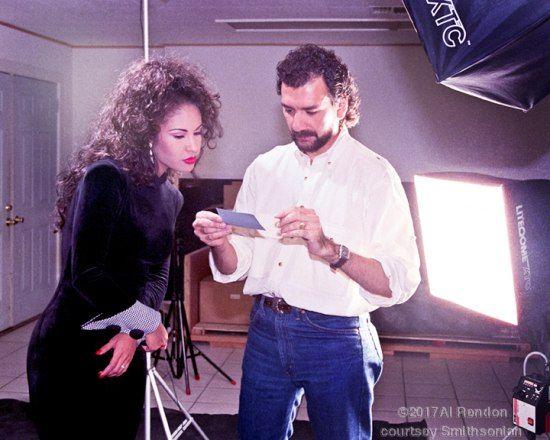 Rendon and Selena at a photoshoot