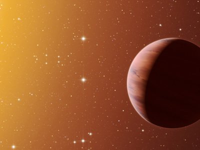 Illustration of a hot Jupiter planet in the Messier 67 star cluster. Hot Jupiters are so named because of their close proximity — usually just a few million miles — to their star, which drives up temperatures and can puff out the planets.