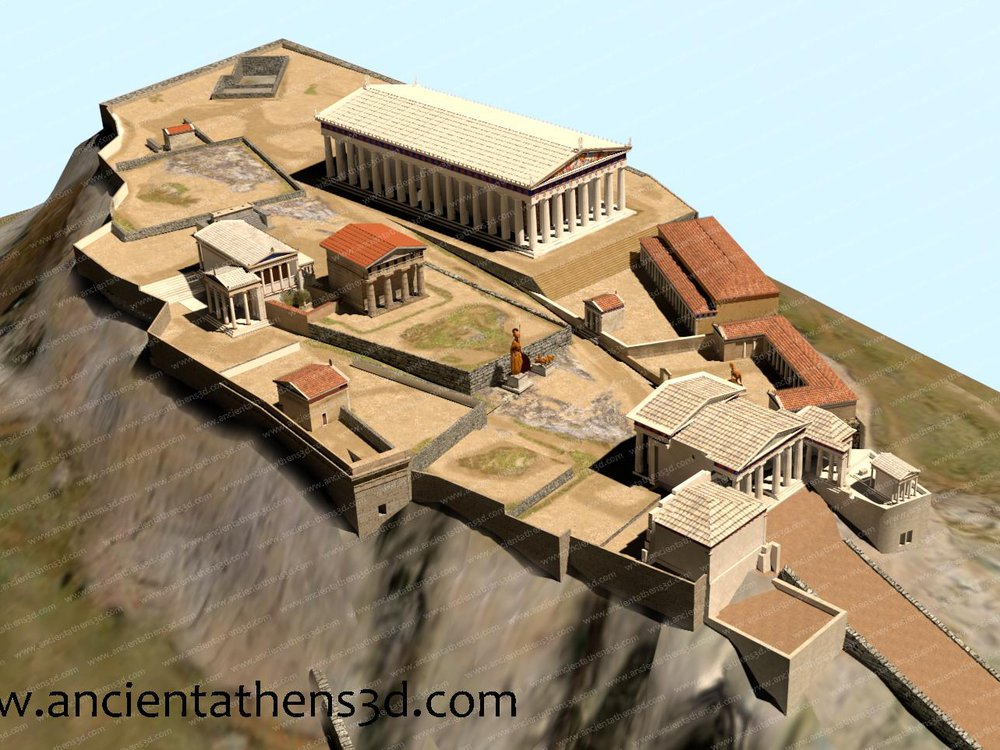 3-D model of Athens
