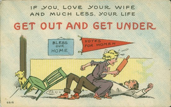 These Anti-Suffrage Postcards Warned Against Giving Women the Vote