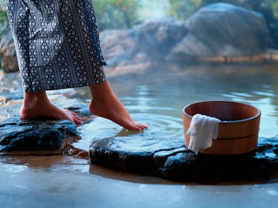 That first dip into a hot spring may actually send chills over your skin.