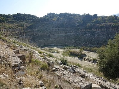 Researchers in Turkey have uncovered an all-but-forgotten ancient Greek temple and a 50,000-seat stadium (shown).