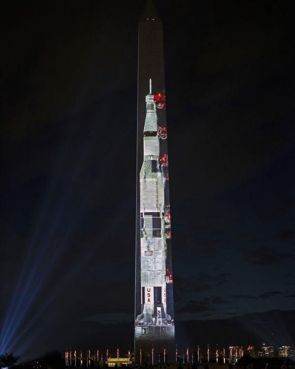 Apollo 11 Projected onto the Washington Monument thumbnail