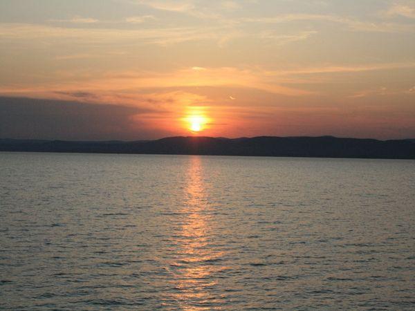 Sunset over Lake Balaton thumbnail